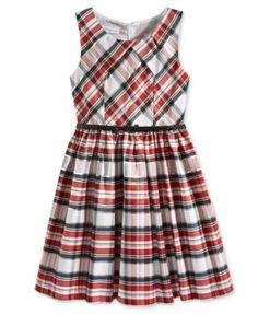 Bonnie Jean Metallic Plaid Special Occasion Dress, Big Girls (7-16)