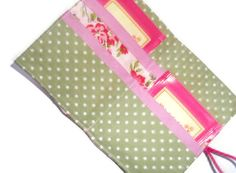 Pink Rambling Roses Tea Bag Wallet  Holder for by moodycowdesigns, £6.00