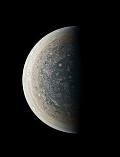 This enhanced-color image of Jupiter's south pole and its swirling atmosphere was created by citizen scientist Roman Tkachenko using data from the JunoCam imager on NASA's Juno spacecraft.