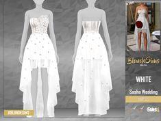 The Sims 4 Sasha Wedding - Dress The Sims 4 Pc, Sims 4 Teen, Sims Four, Sims Cc, Los Sims 4 Mods, Sims 4 Cas Mods, Sims 4 Cc Kids Clothing, Sims 4 Mods Clothes, Sims 4 Wedding Dress