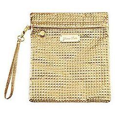 SEPHORA COLLECTION Yuma Bella Metallic Embossed Makeup Bag CollectionSmall Gold Tall Clutch http://www.amazon.com/