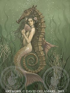 Original Mermaid Art by David Delamare