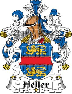 Heller Family Crest apparel, Heller Coat of Arms gifts
