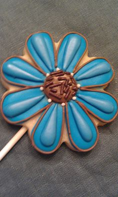 flower cookie pop by My Cookie Affair, via Flickr