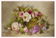 Roses and other seasons✿ Original paintings by Helen Flont