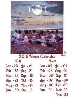 Full Moons for 2016 (I noticed a correction for August 2016, full moon is Aug. 18th). Yes, there are two new moons in Sept. 2016, Blue Moon on the 30th!