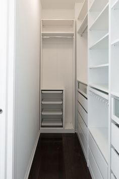 In this post, we're sharing everything we learned building the Ikea PAX closet system, including: helpful tips for assembly ways we hacked the PAX for a custom size how to cover Ikea PAX holes alternative rod options must-have accessories to. Small Walk In Wardrobe, Walk In Closet Ikea, Ikea Pax Closet, Closet Walk-in, Ikea Pax Wardrobe, Wardrobe Room, Diy Wardrobe, Small Closets, Small Walkin Closet