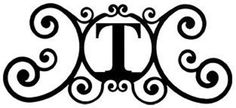Wrought Iron House Plaque Let T -24 In