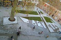 Dikke Boom en Fontein op het Gouvernementsplein, Bergen op Zoom