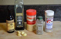 Ingredients to make Original Beef Jerky Marinade. | Click through for the…