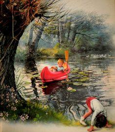 Jean Lou et Sophie au bord de la rivière by ielaba98, via Flickr