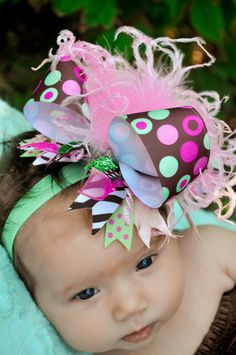 "Love these ""over the top"" hair bows!"
