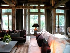 Rustic with Comfortable Furniture