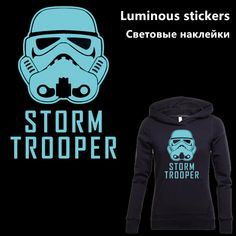 Cheap iron on patches, Buy Quality iron on directly from China patch iron on Suppliers: Star Wars STORM TROOPER Luminous stickers 31*21.5cm Iron On Patches For Clothes DIY Decoration T-shirt Hoodies Appliques