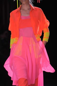 Yohji Yamamoto Spring 2014 - at last! Colours to make the heart sing!                                                                                                                                                                                 More
