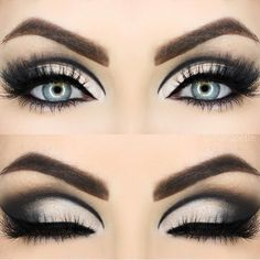 Pretty eyeshadow looks not only to have the power to highlight your personality but also brings some relief from the monotony of everyday makeup. Look out for some pretty makeup looks here. Smokey Eye Makeup Look, Smokey Eyes, Eye Makeup Tips, Makeup Looks, Makeup Ideas, Makeup Geek, Makeup Products, Hair Makeup, White Eyeshadow