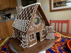 Gingerbread house Davids Cookies, Gingerbread, Desserts, House, Food, Tailgate Desserts, Deserts, Home, Ginger Beard