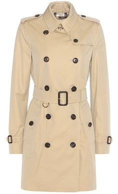 c693bb5e9d0a Burberry Kensington Cotton Trench Coat Beige Trench Coat