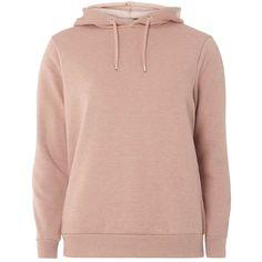 Dorothy Perkins Dusky Rose Plain Hoodie (£28) ❤ liked on Polyvore featuring tops, hoodies, dusky rose, dorothy perkins, hooded pullover, pink hoodie, rose tops and long sleeve hoodie