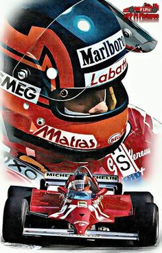 Gilles Villeneuve, his son is nothing like the old man! Belgian Grand Prix, James Hunt, Speed Art, Gilles Villeneuve, Ferrari F1, Car Illustration, Car Drawings, Top Cars, F1 Racing