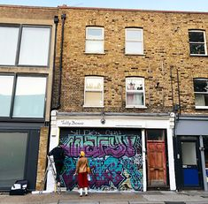 Ooh, our original Brick Lane store's shutter got an extra special makeover by our good friends at Graffiti Life. Tap the snap for the big reveal! Tatty Devine, Brick Lane, What Goes On, Our World, Shutter, Graffiti, The Originals, Friends, Big