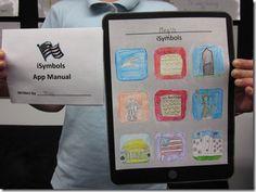 """iSymbols...a really cool project! Creating an """"App"""" for nine different US symbols. Could be adapted for ANYTHING!"""