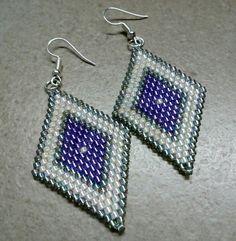 #296 Σκουλαρίκια με χάντρες /Seed bead earrings