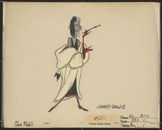 Cruella production art Marc Davis