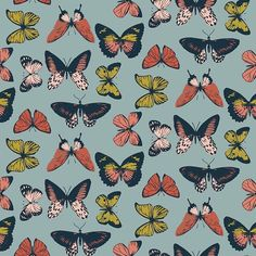 "Patternbank en Instagram: ""Retro Butterfly Repeat by Clare Dean. Shop @patternbank → Link in bio ・・・ Retro Butterfly @patternbank #patternbankdesigner #patternbank…"" Pattern Bank, Pattern Design, Butterfly Watercolor, Bugs And Insects, Butterfly Pattern, Pretty Patterns, Repeating Patterns, Wallpaper Backgrounds, Wallpapers"