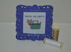 Totes Ma Goats  Completed Cross Stitch Art in by CatInLapStudio, $18.00