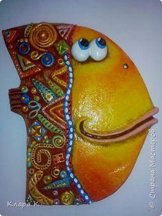 Поделка изделие 8 марта Лепка Роспись Ещё одна рыбка Гуашь Тесто соленое
