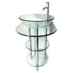 """24"""" Single Pedestal Bathroom Vanity Set"""