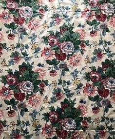 Vtg Waverly Peace Cotton Chintz Fabric Roses Collection Schumacher 3 3/4 Yards  | eBay