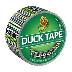 Printed Duck® Brand Duct Tape - Tribal http://duckbrand.com/products/duck-tape/prints/standard-rolls/tribal-188-in-x-20-yd?utm_campaign=color-duck-tape-general&utm_medium=social&utm_source=pinterest.com&utm_content=printed-duct-tape