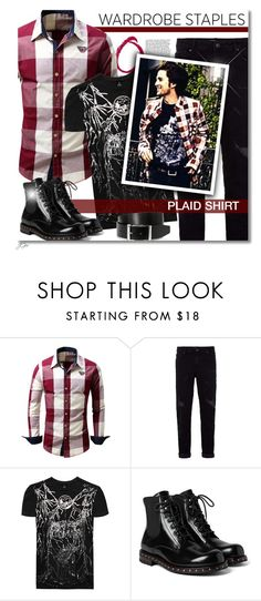 """Plaid Shirt"" by jgee67 ❤ liked on Polyvore featuring Topman, RADDAR7, Dolce&Gabbana, HUGO, plaid, polyvoreblogger, polyvoreeditorial and WardrobeStaples"