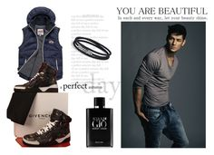 """""""4Beauty"""" by fahira-1 ❤ liked on Polyvore featuring Superdry, Givenchy, Giorgio Armani, David Yurman, mens, men, men's wear, mens wear, male and mens clothing"""