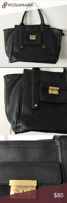 "3.1 Phillip Lim Target large Pashli Satchel Bag 3.1 Phillip Lim Target Large Pashli Satchel  Great condition! Small scratch on outsidepocket hardware, few marks on interior lining.  Color: Black   21.11""L x 15""H x 4""W 3.1 Phillip Lim for Target Bags Totes"