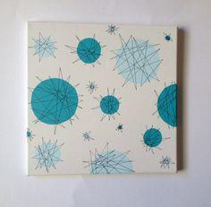 Mid Century Modern Atomic Starburst by LobsterLadyCreations