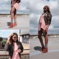 Peach + Khaki Outfit idea  #peachy #female #blogger #london Khakis Outfit, Peach, London, Female, Blog, Outfits, Suits, Blogging, Peaches