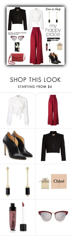 """My Happy Place"" by rboowybe ❤ liked on Polyvore featuring Plein Sud, Joseph, Chloe Gosselin, Michael Kors, David Yurman, Chloé, Wet n Wild and Le Specs Luxe"