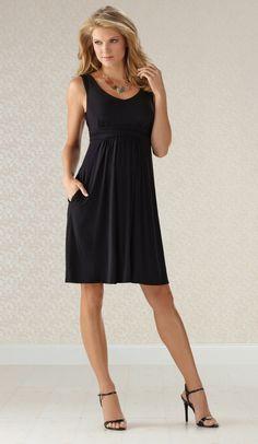 Luxurious Black Dress™   Soma Y-Back Dress  SomaIntimates  black   41f32ab13