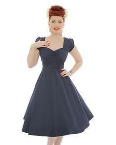 Bella  Navy Blue Swing Dress 265fabd3133