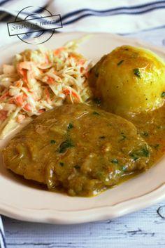 Schab w sosie cebulowym – Smaki na talerzu Tortellini, Food And Drink, Chicken, Dinner, Ethnic Recipes, Kitchen, Diet, Kitchens, Meat