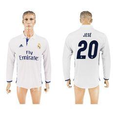 Real Madrid 16-17 Jese 20 Hjemmebanetrøje Langærmet.  http://www.fodboldsports.com/real-madrid-16-17-jese-20-hjemmebanetroje-langermet.  #fodboldtrøjer