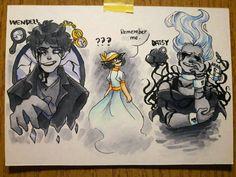 Class drawing by ijustwannahavefunn on DeviantArt Creepypasta Proxy, Creepypasta Cute, Copic Drawings, Art Drawings, Creepy Pasta Family, Art Prompts, Arte Horror, Scary, Creepy Stuff