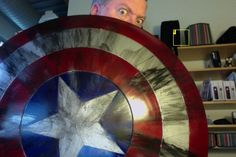 Diy Captain America Shield. This looks awesome I wish they sold sleds here!!!!