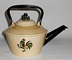 Metlox Pottery Poppy Trail California Provincial Teapot