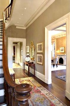 Love the paint color and moulding in this Savannah home.