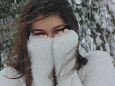 Girl, Snow, White, Cold, Eye, Wind
