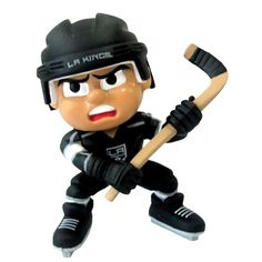 """Lil Teammates Series Los Angeles Kings Slapper Figurine (Edition 2) - Catch the fever of the hot new toy collectible craze with these poseable 3"""" vinyl team figures, available in various positions, series and uniform combinations. These little guys, dressed in the uniforms of your favorite teams, are tall and feature very animated faces and rotating heads. Collect all the positions and teams. 3 inches tall Rotating heads Officially licensed Series Collectible NHL License: Los Angeles…"""